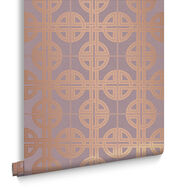 Asian Lattice Blush Wallpaper, , large