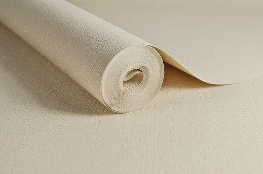 Sofia Plain Natural Wallpaper, , large