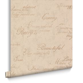 Concrete Script Gold Behang, , large