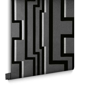 Noir Groove Behang, , large