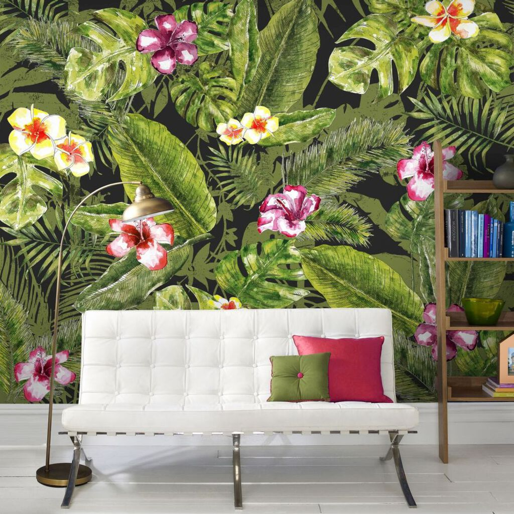 Couture Jungle Flora Ready Made Mural, , large