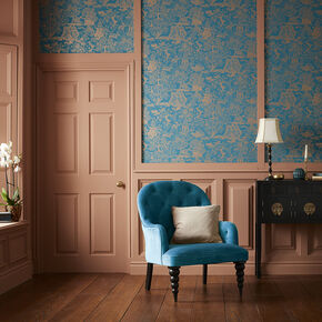 Basuto Teal Wallpaper, , large
