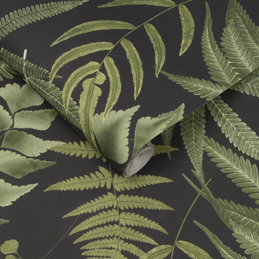 Midsummer Fern Black Behang, , large