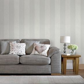 Artisan Stripe Dove Wallpaper, , large