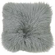 Cosy Grey Mongolian Cushion, , large