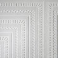 Square Panel Paintable White Wallpaper, , large