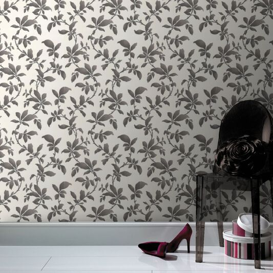 Sarra Black and White Wallpaper, , large