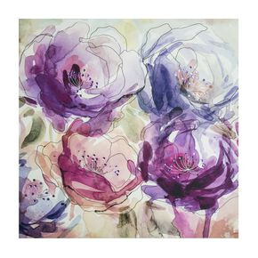 Stitched Spring Blooms Printed Canvas Wall Art , , large