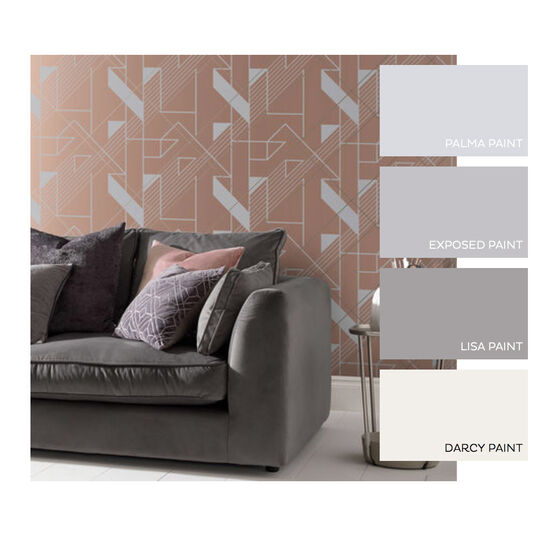 Graphic Blush Wallpaper, , large