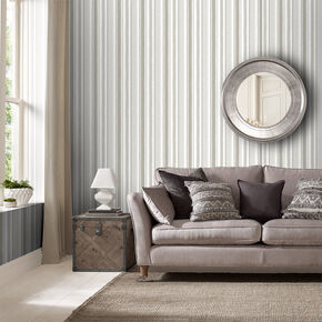 Indian Ink Stripe Stone Wallpaper, , large