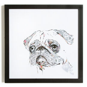 Pug Framed Print Wall Art  Wall Art, , large