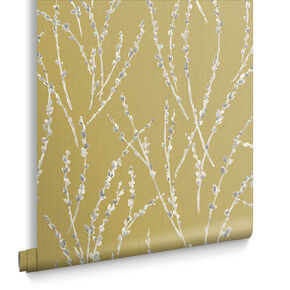 Floret Mustard Wallpaper, , large