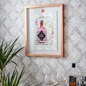 Let The Fun Be Gin Framed Print, , large