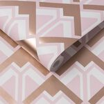 Beau Pink & Rose Gold Wallpaper