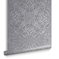 Souk Tile Pewter Wallpaper , , large