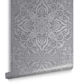 Souk Tile Pewter Behang, , large
