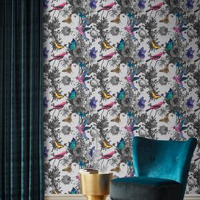 Jardin Grey Wallpaper, , large