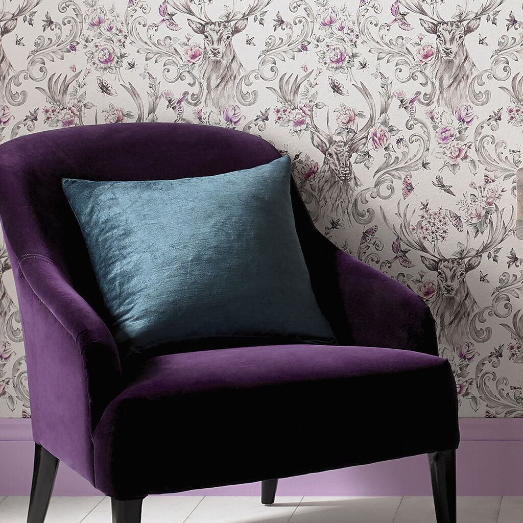 Teal Lavish Cushion, , large