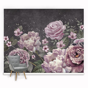 Fotobehang Purple Bloom Wall, , large