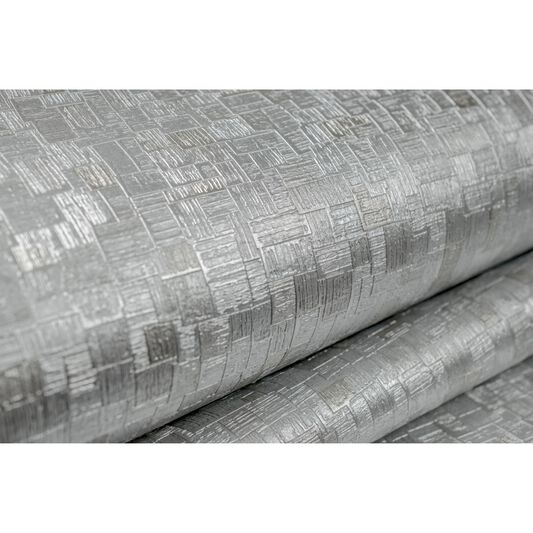 Jive Silver and Metallic Wallpaper, , large