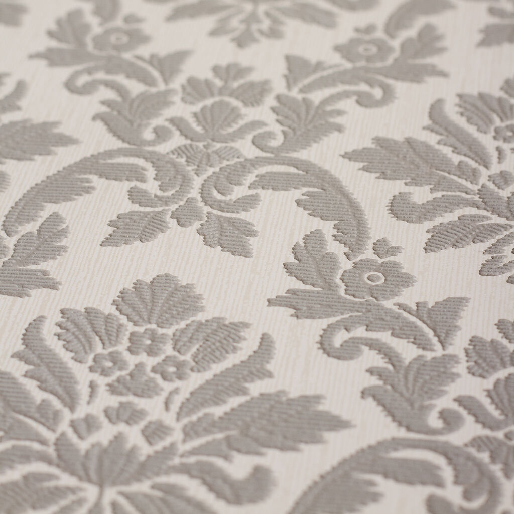 Damask Gray Wallpaper , , large
