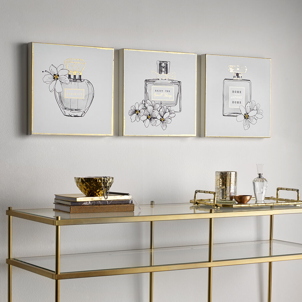 Pretty Perfume Bottles Printed Canvas Wall Art, , large