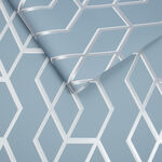 Archetype Blue & Silver Wallpaper