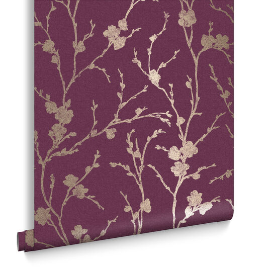Meiying Mauve Wallpaper, , large