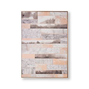 Rose Gold Quartz Dimension Framed Canvas Wall Art , , large