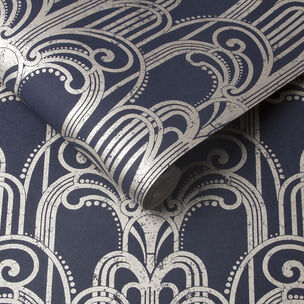 Art Deco Midnight Wallpaper, , large