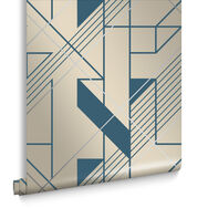 Graphic Cobalt Wallpaper, , large