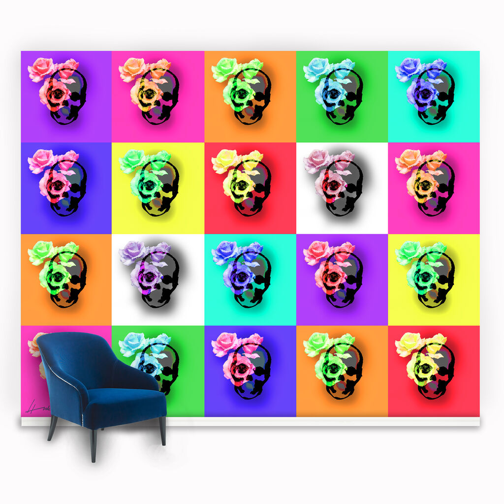 Skulls & Roses Ready Made Mural, , large