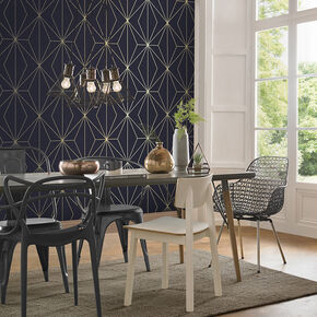 Harmony Navy Wallpaper, , large