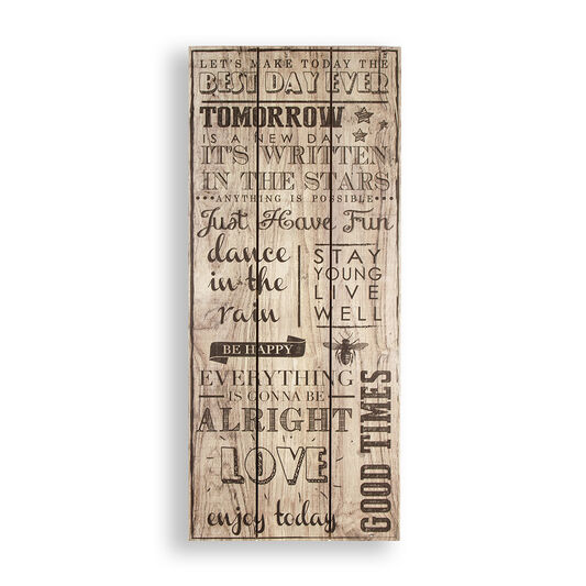Best Day Ever Print On Wood Wall Art, , large