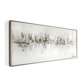 New York Reflections Handpainted Framed Canvas Wall Art , , large