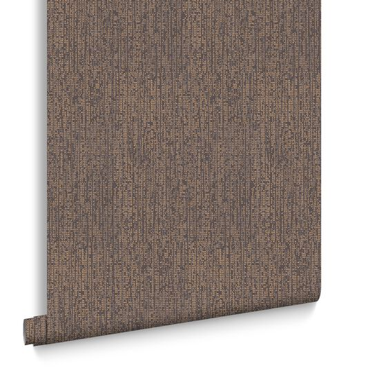 Matrix Chocolate and Bronze Wallpaper, , large