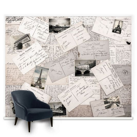 Postcards From Paris Ready Made Mural, , large