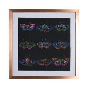 Beautiful Butterflies Stitched Framed Wall Art Print, , large