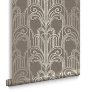 Art Deco Natural Wallpaper, , large