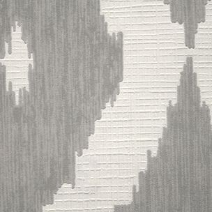 Kelly's Ikat White and Soft Gray Wallpaper, , large