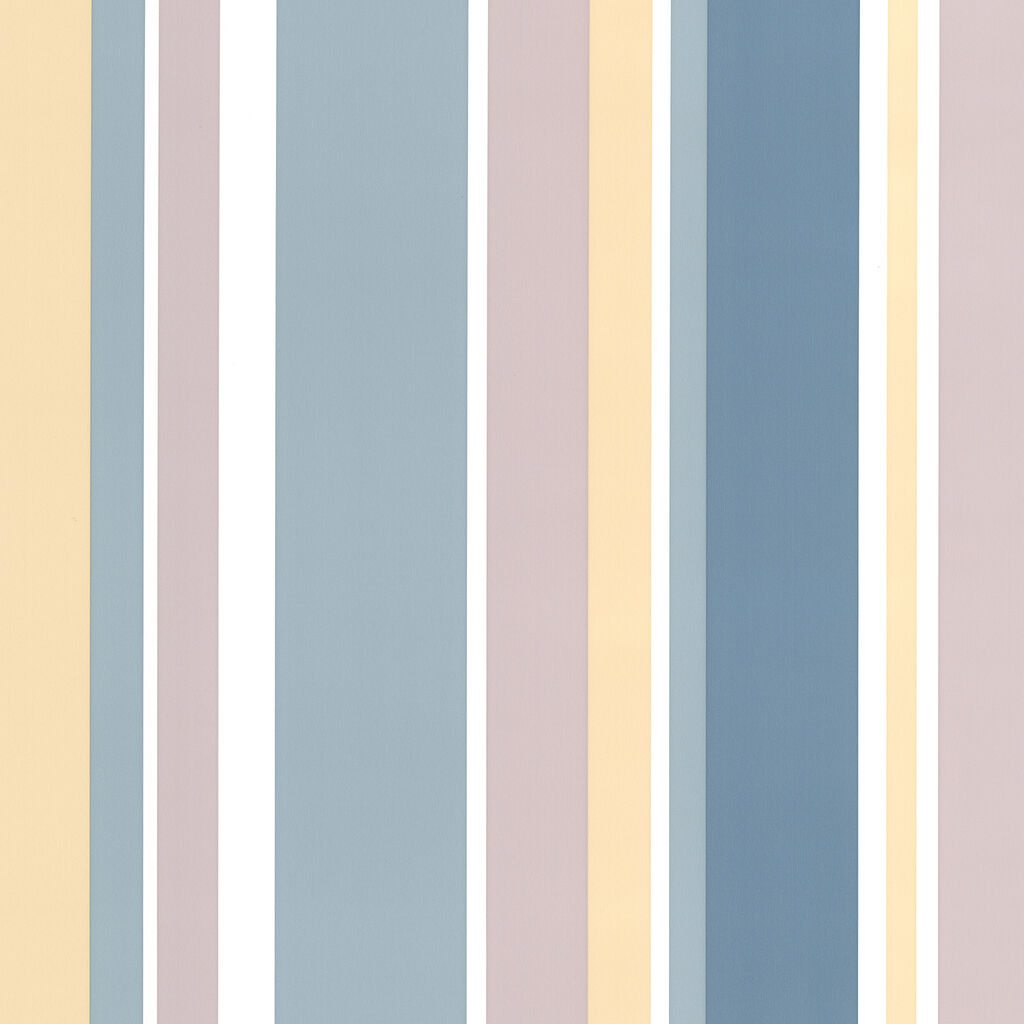 Rico Stripe Teal Wallpaper, , large