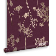 Anthriscus Plum Wallpaper, , large