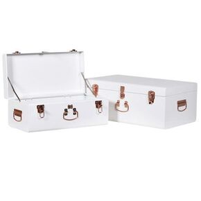 White and Copper Storage Trunks, , large