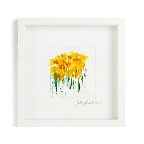 Sally Mackness Daffodils Hand Painted Framed Wall Art, , large