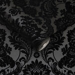 Gothic Damask Noir Wallpaper