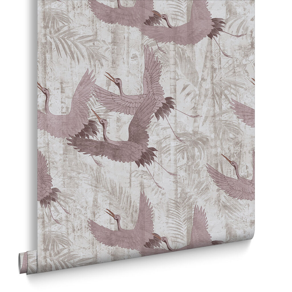 Crane Pink Wallpaper, , large