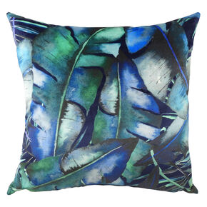 Rainforest Blues Tropical Cushion, , large