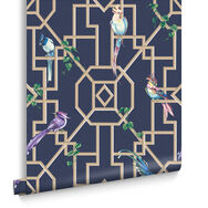 Bird Cage Midnight Wallpaper, , large