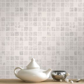 Earthen Mid Gray Wallpaper, , large