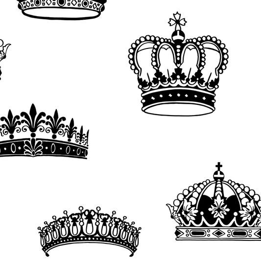 Papier Peint Crowns and Coronets, , large